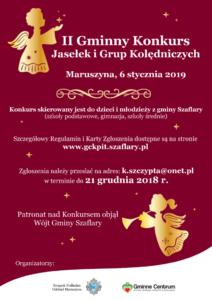 Plakat II Gminny Konkurs Jasełek iGrup Kolędniczych