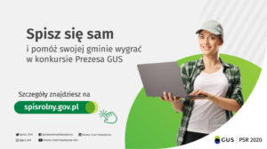 Plakat promocyjny konkursu związanego zPowszechnym Spisem Rolnym